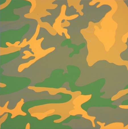 Camo TP (Green and Yellow) by Andy Warhol