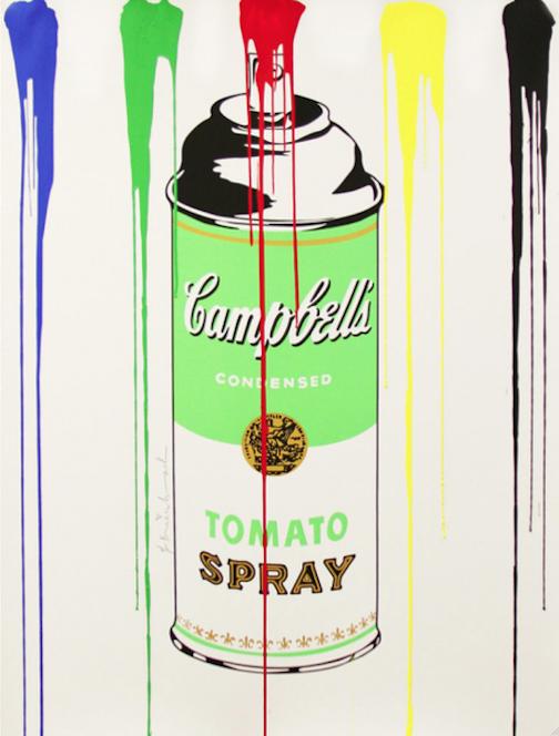 Tomato Spray Can Green by Mr. Brainwash