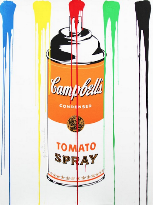 Tomato Spray Can Orange by Mr. Brainwash