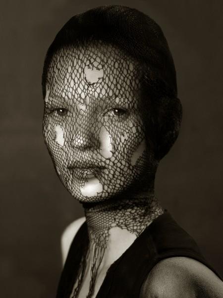 Torn Veil Kate Moss by Albert Watson