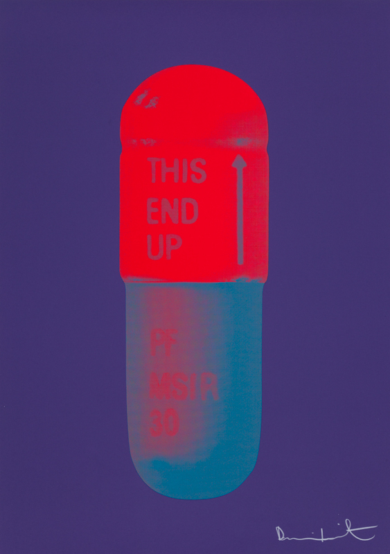 The Cure (Violet) Pills by Damien Hirst