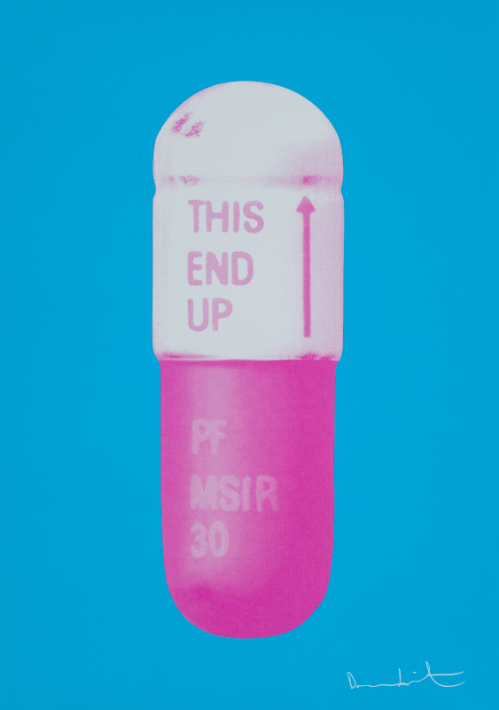 The Cure (Vivid Blue) Pills by Damien Hirst