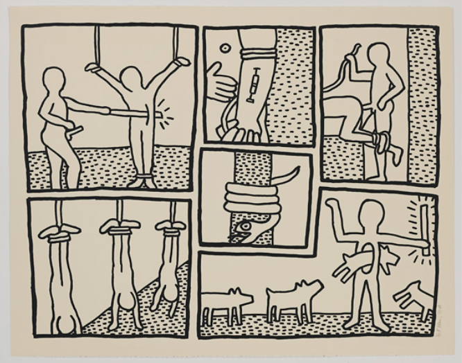 Blueprint Drawings 1 by Keith Haring