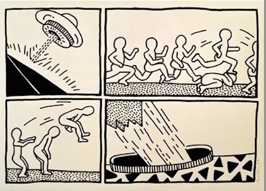 Blueprint Drawings 13 by Keith Haring