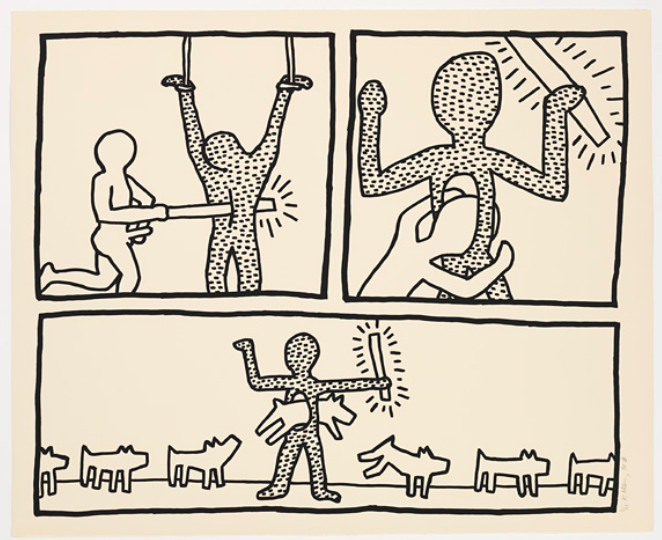 Blueprint Drawings 4 by Keith Haring