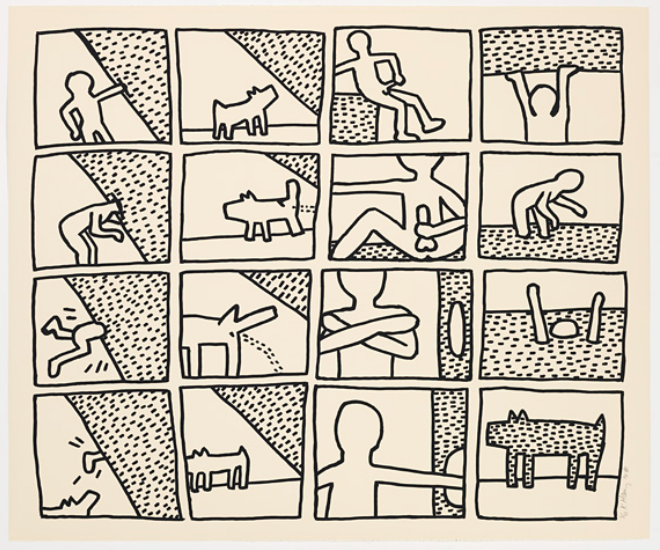 Blueprint Drawings 5 by Keith Haring