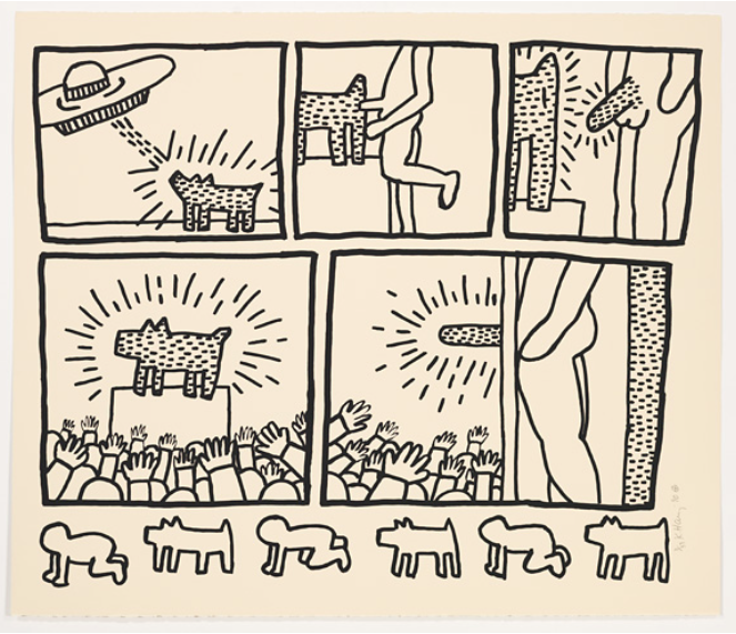 Blueprint Drawings 6 by Keith Haring