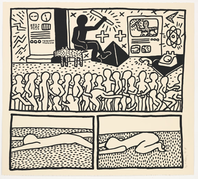 Blueprint Drawings 8 by Keith Haring