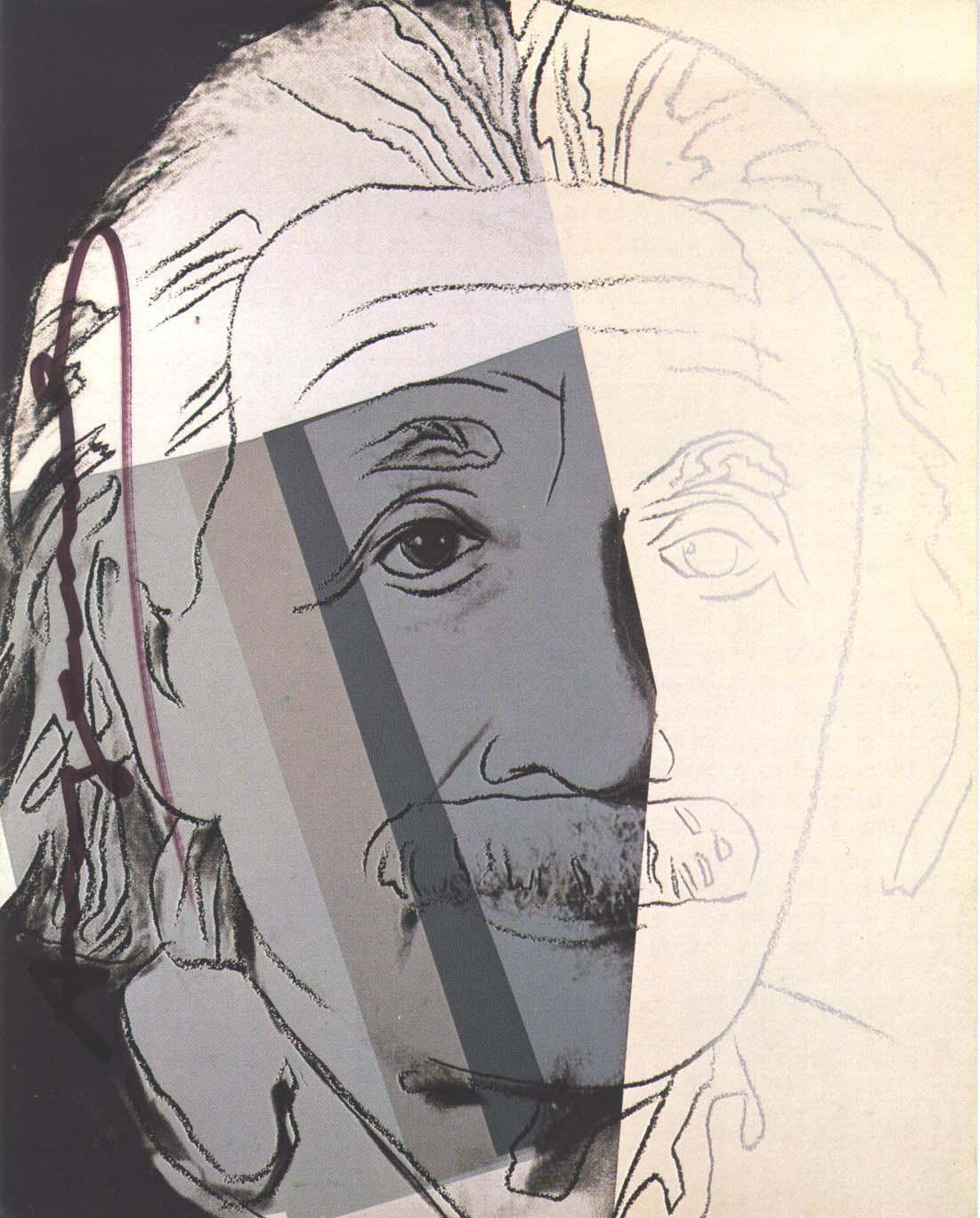 Einstein 229 by andy Warhol