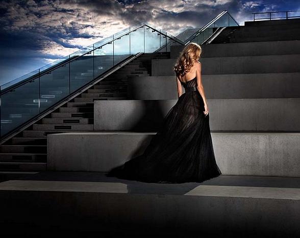 Girl in the Black Dress by David Drebin