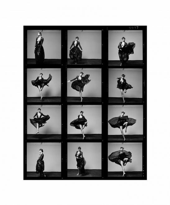 Helena Contact Sheet by Michel Comte
