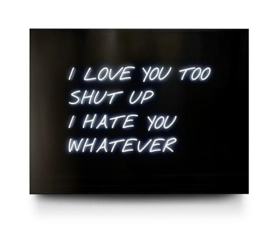 I Love You Too Neon by David Drebin