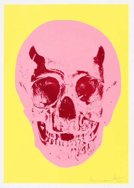 Lemon Yellow Skull by Damien Hirst
