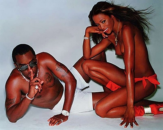 Naomi Campbell and Diddy by Mario Testino