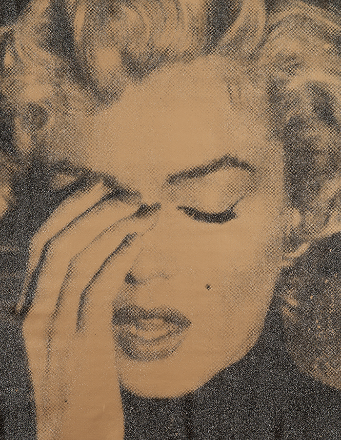 Marilyn Crying Gold by Russell Young