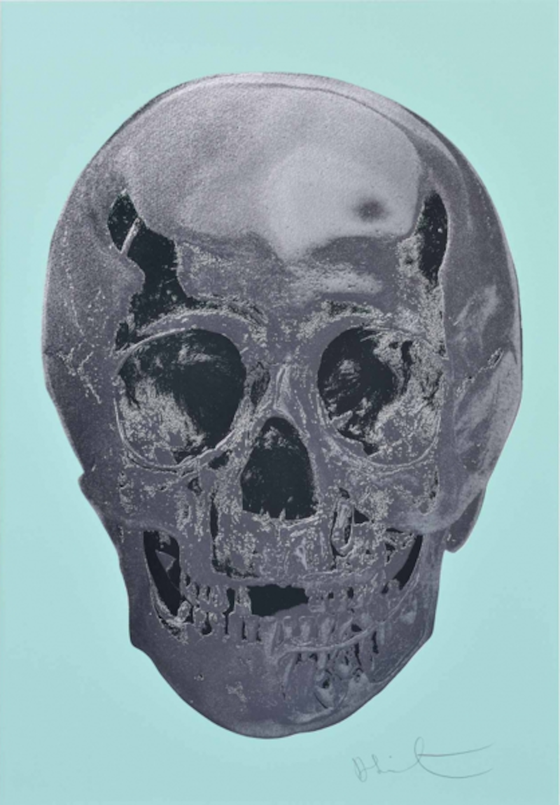 Heavenly Peppermint Skull by Damien Hirst