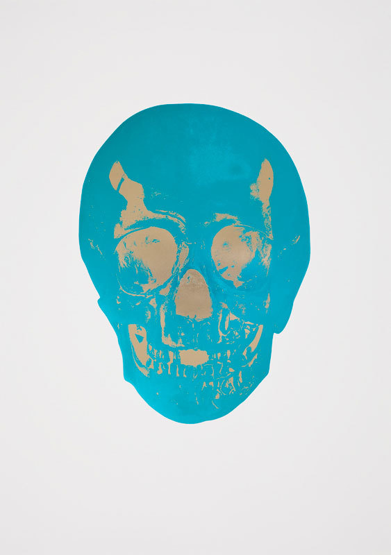 Turquoise Skull by Damien Hirst