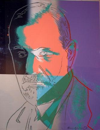 Sigmund Freud by Warhol