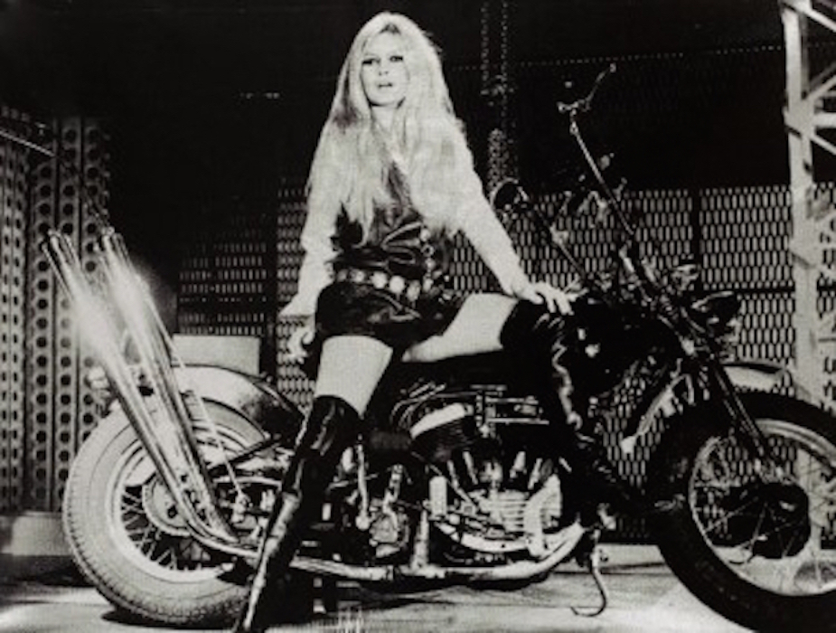 Brigitte Bardot on Bike by Russell Young