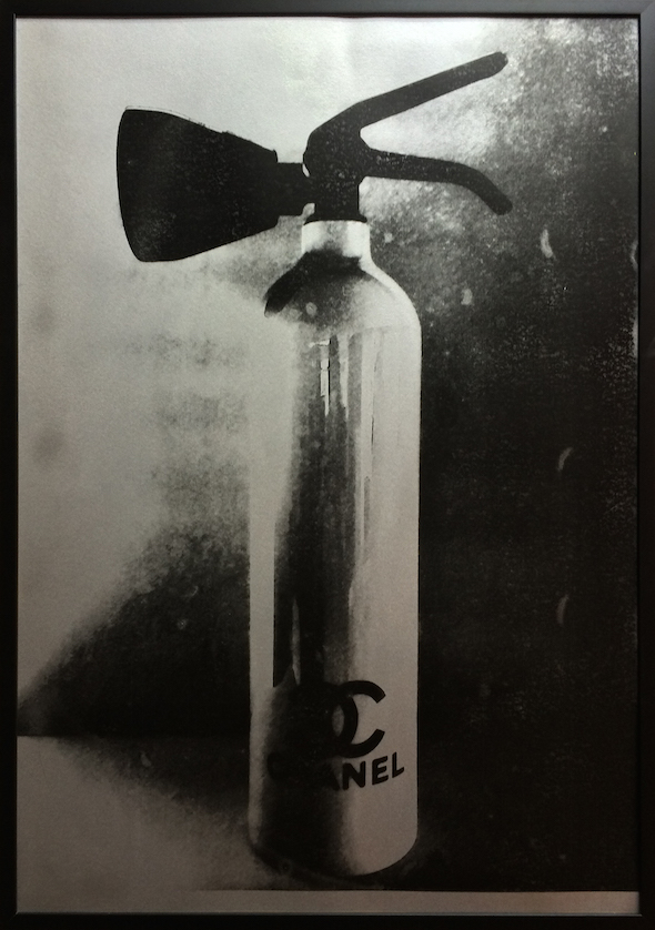 Chanel FIre Extinguisher Silver Prints by Niclas Castello