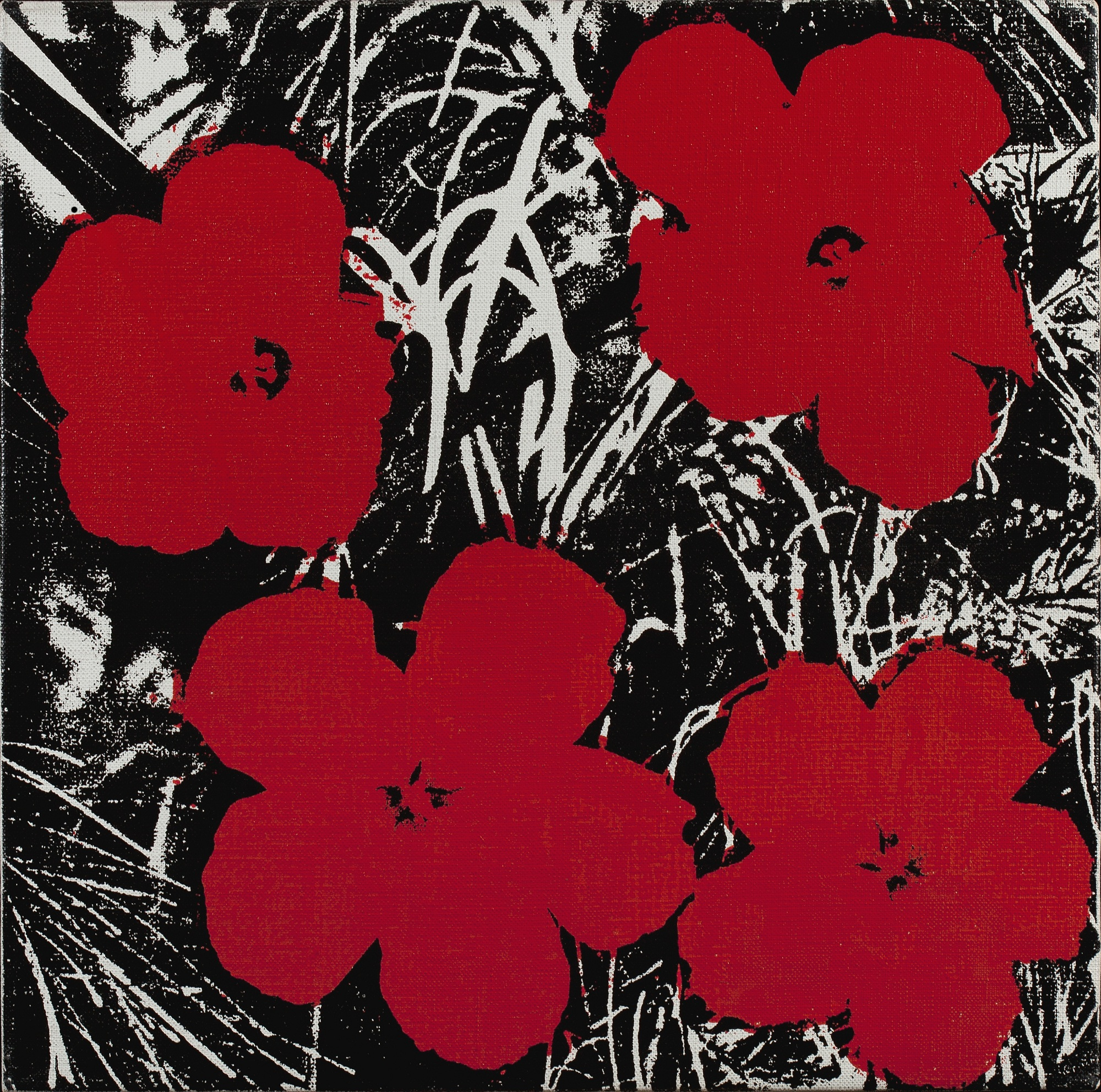 12 Inch Flower Painting Andy Warhol