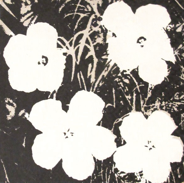 BNW Flower Painting
