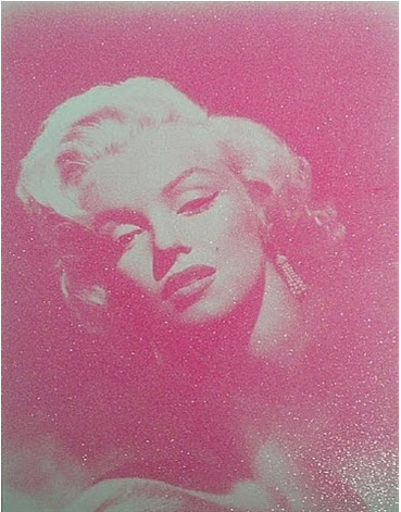 Glamour Marilyn (fuschia) by Russell Young