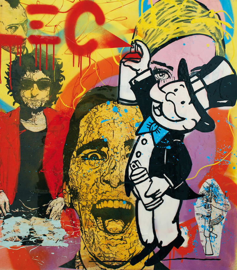 Graffiti Scene by Alec Monopoly