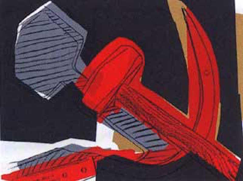 Hammer and Sickle 164 by Andy Warhol