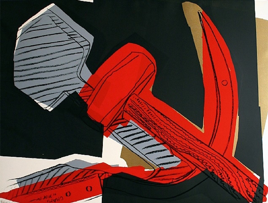 Hammer and Sickle 169 by Andy Warhol