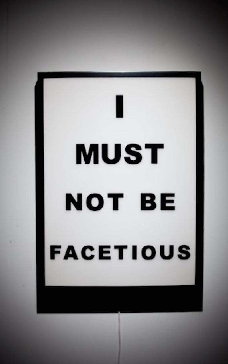 I Must not be Facetiou by Jason Alper