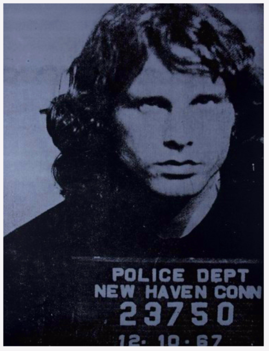 Jim Morrison(Blue) by Russell Young