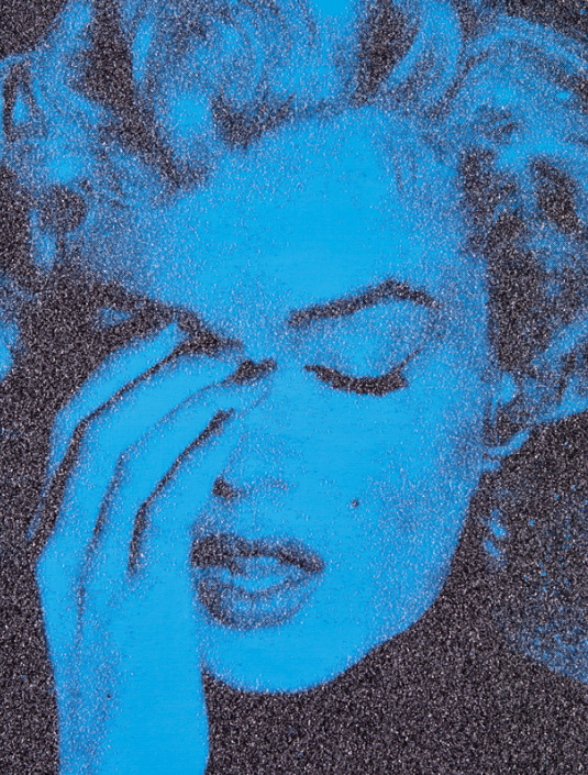 Marilyn Crying (El Centro Blue) by Russell Young