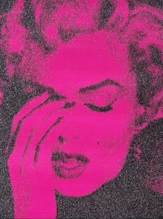 Marilyn Crying (Western Pink) by Russell Young