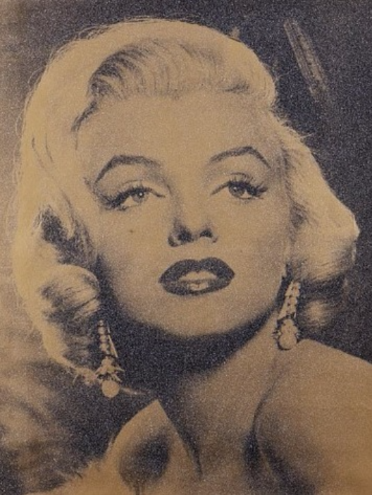 Marilyn Godess (Sepia) by Russell Young