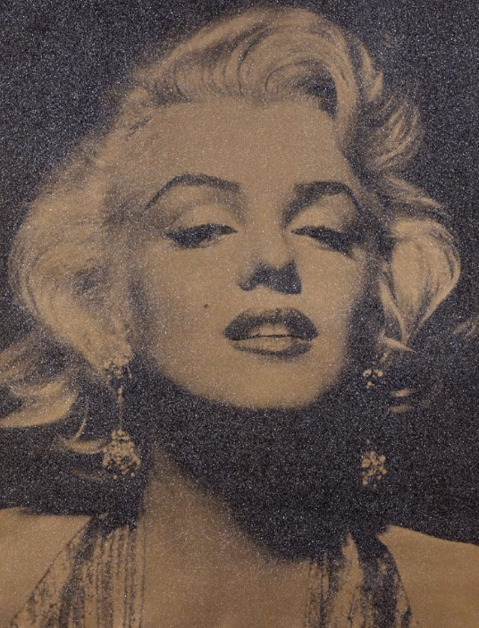 Marilyn (flat gold) by Russell Young