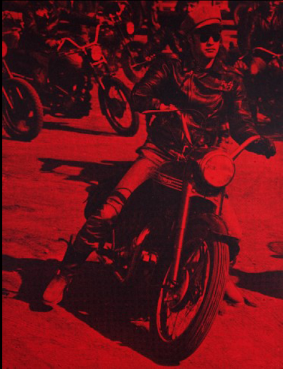 Marlon Brando Red (Bike) by Russell Young