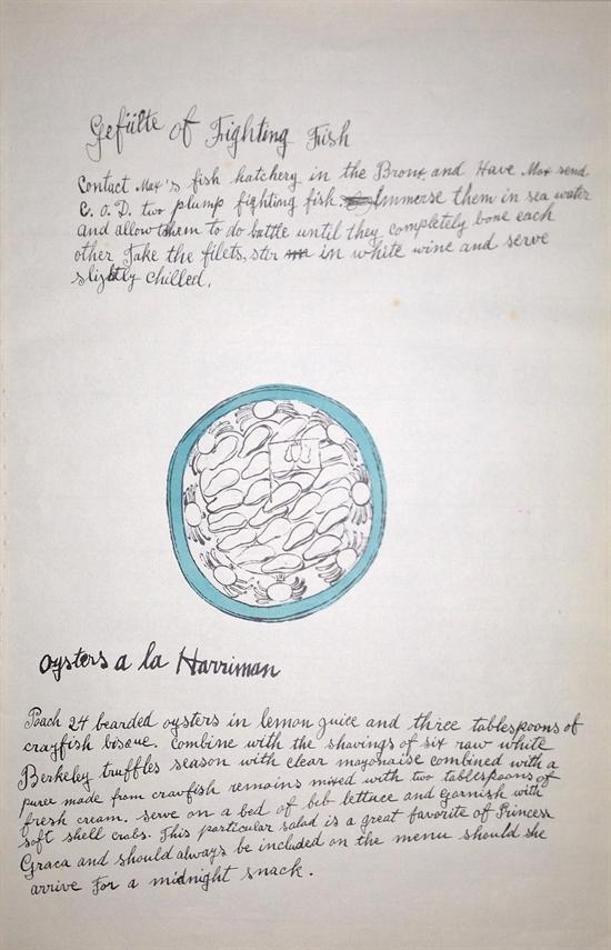 Oysters a la Harriman by Andy Warhol