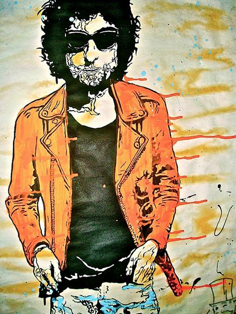 Bob Dylan by Alec Monopoly
