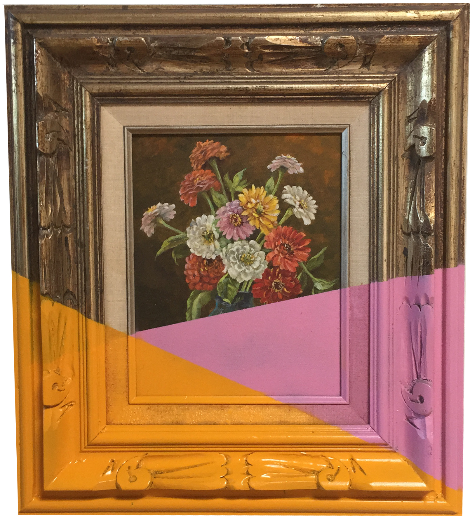 Double Dipped Flowers Orange by TMFA