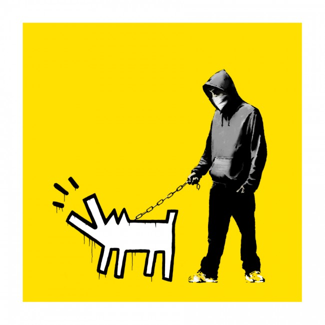 Choose Your Weapon by Banksy (Yellow)