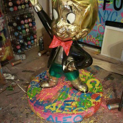 Richie Rich Dollars Sculpture by Alec Monopoly
