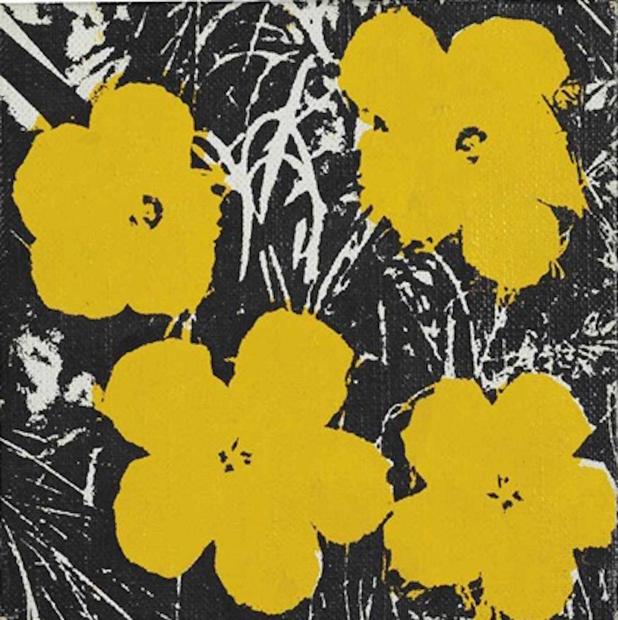 5 inch Yellow Flower Painting  Andy Warhol
