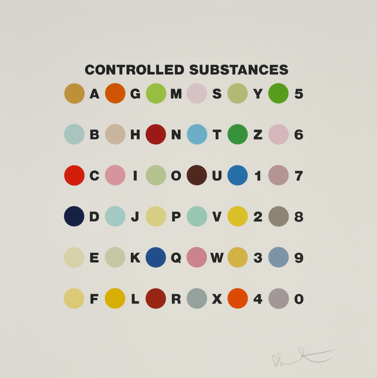 Controlled Substance by Damien Hirst