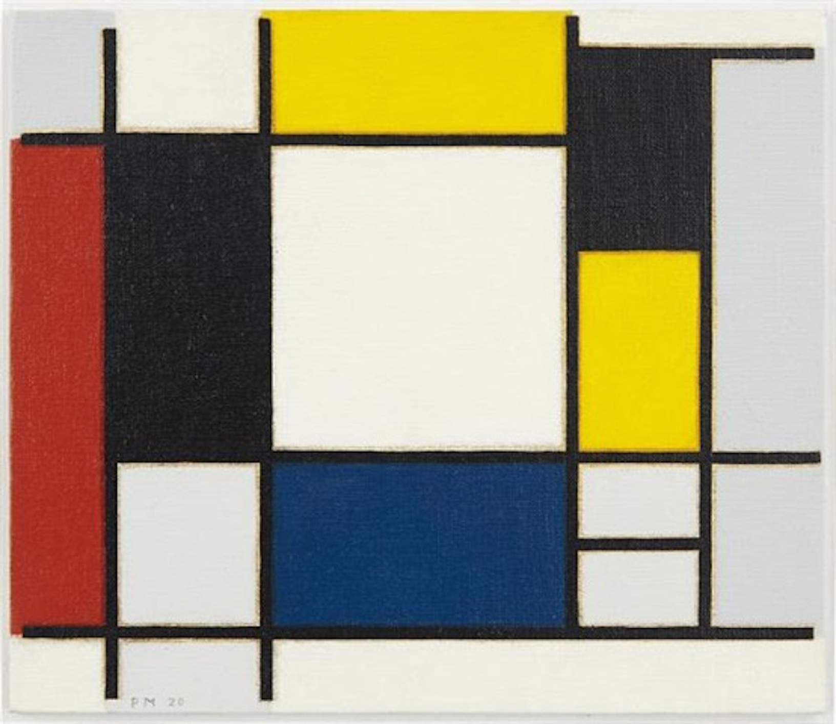 Mondrain Composition by Richard Pettibone