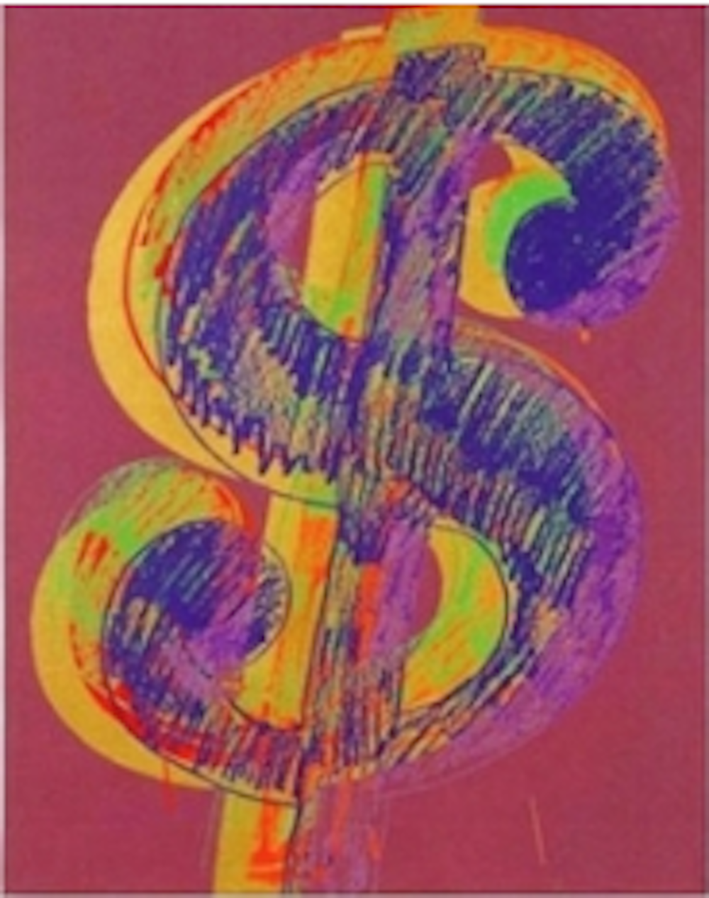Single Dollar Sign by Andy Warhol
