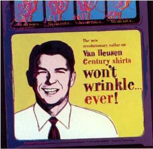 Van Heusen (Ronald Regan) Trial Proof by Andy Warhol