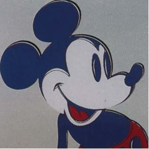 Mickey Mouse Trial Proof by Andy Warhol