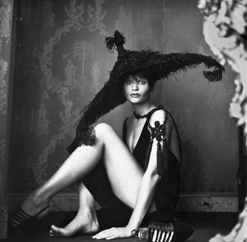 Helena Christensen Hat by Michel Comte