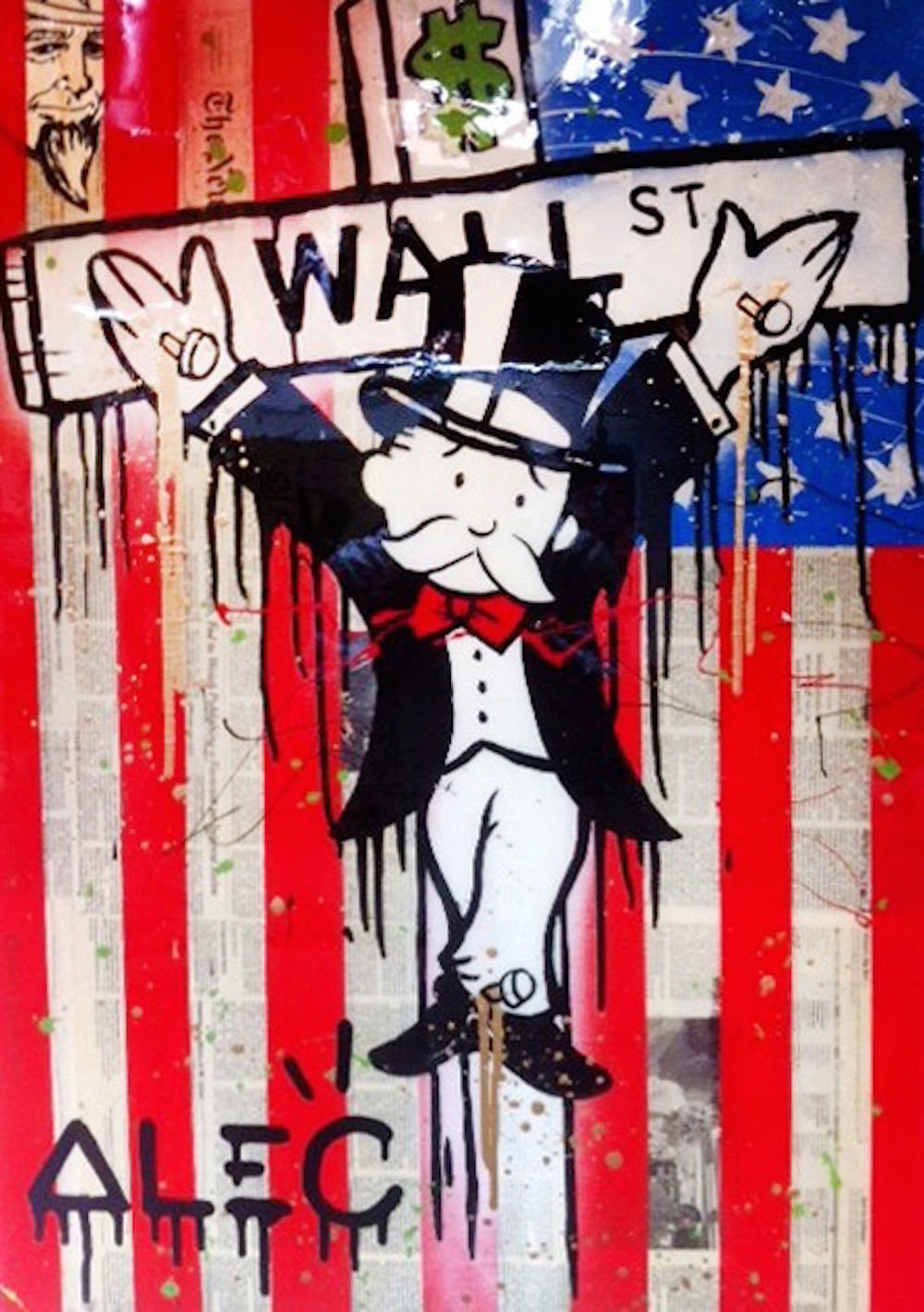 Wall Street Crucifix by Alec Monopoly